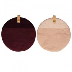 Button Potholder (2 pcs) rose&olive by Oyoy