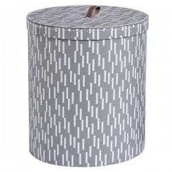 OYOY boîte de rangement ronde en carton imprimé