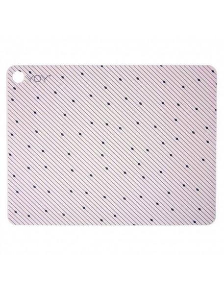 set de table design 100% silicone: rose (x2)   Oyoy