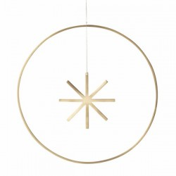 Ferm Living christmas ornament - winterland brass star - Large