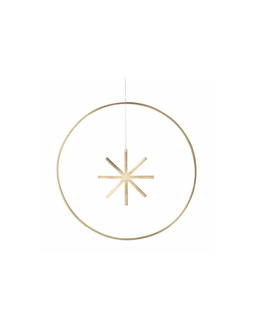 décoration de noël winterland ferm living - Cercle avec étoile en laiton