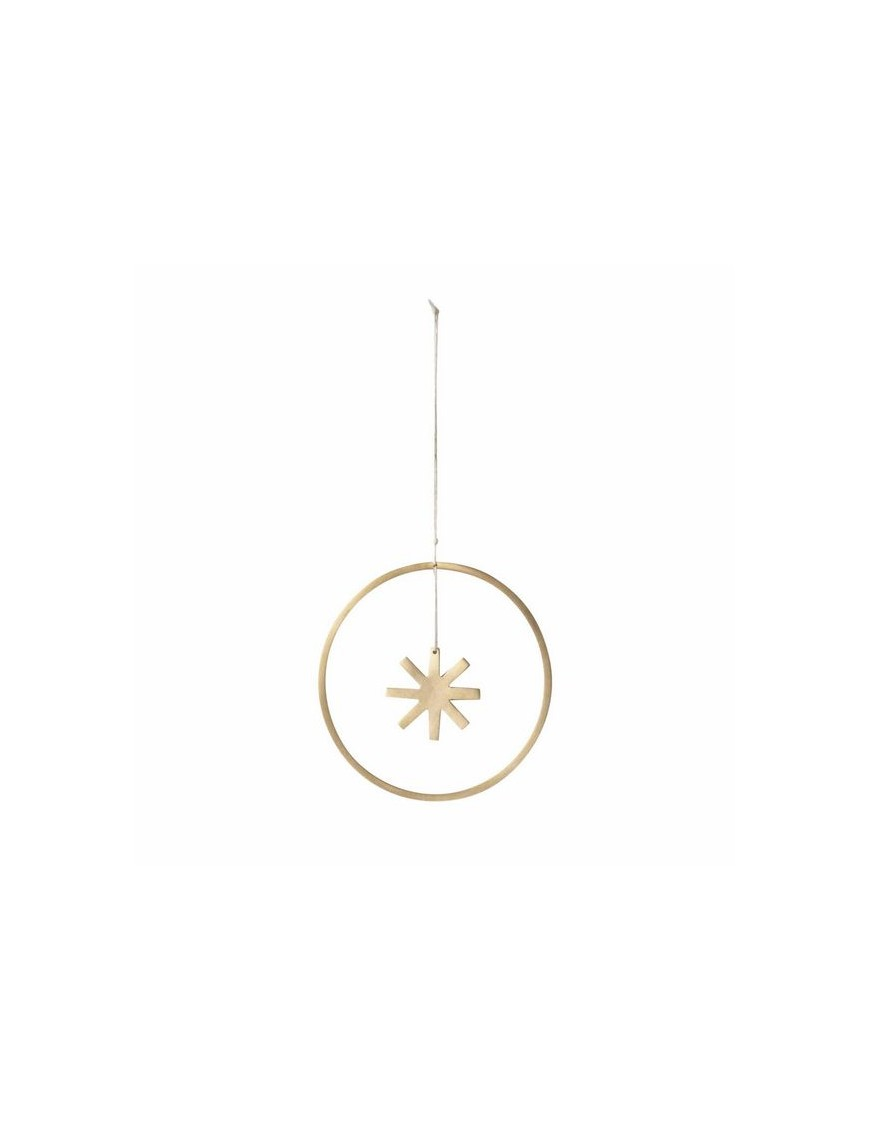 décoration de noël à suspendre étoile winterland ferm living