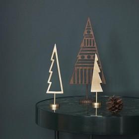Ferm Living winterland brass tree - christmas ornament