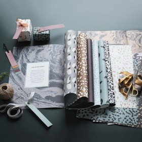 ferm living gift wrapping book 11 sheets
