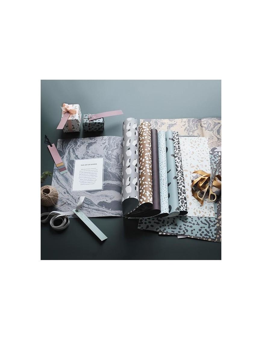 ferm living bloc papiers cadeaux - 11 feuilles