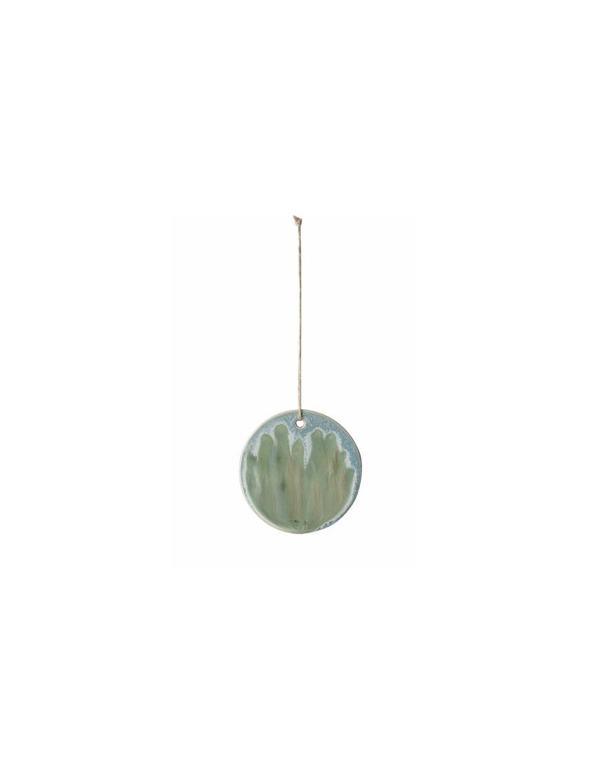 Ferm Living ceramic ornament - green