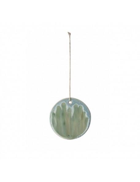 boule de noël en porcelaine émaillée verte ferm living
