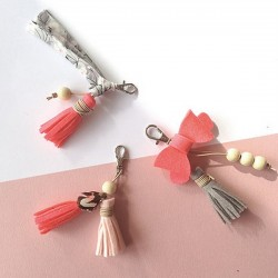 Creative kit : Create your bag charms (x3) - pink