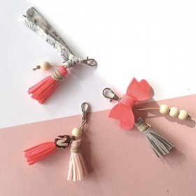 Kit créatif crée tes bijoux de sac - rose