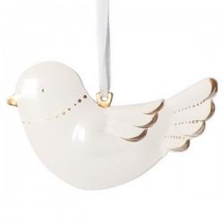 maileg metal bird white & gold - set of 2