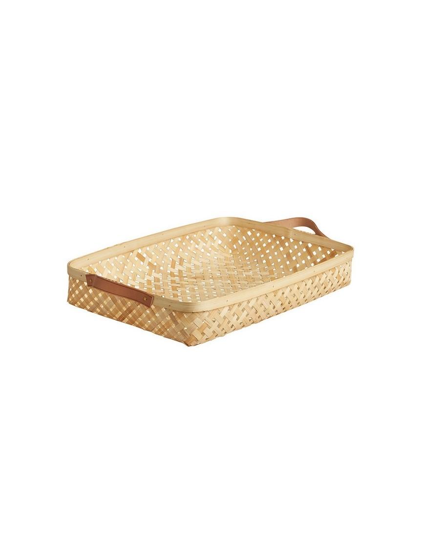 Panier à pain naturel & cuir large oyoy