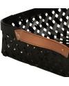 Oyoy - panière à pain: bambou noir & cuir (large)