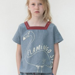 BOBO CHOSES | t-shirt sailor flamingo