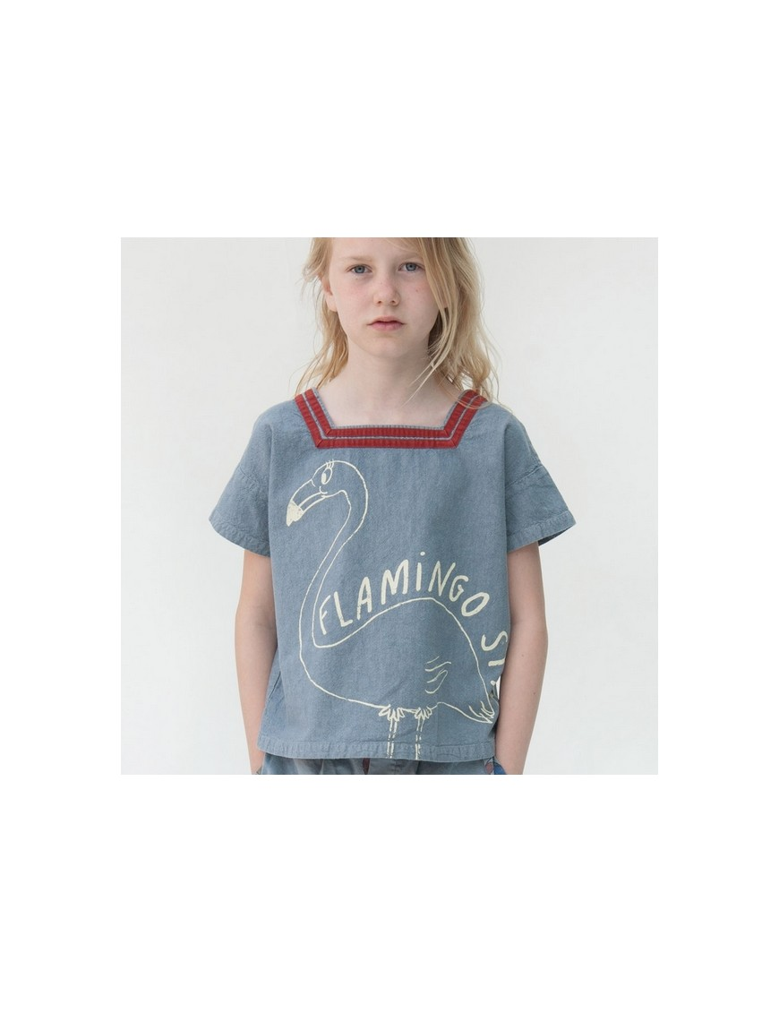 Bobo choses t-shirt sailor flamingo
