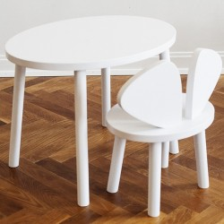 Mouse table white Nofred