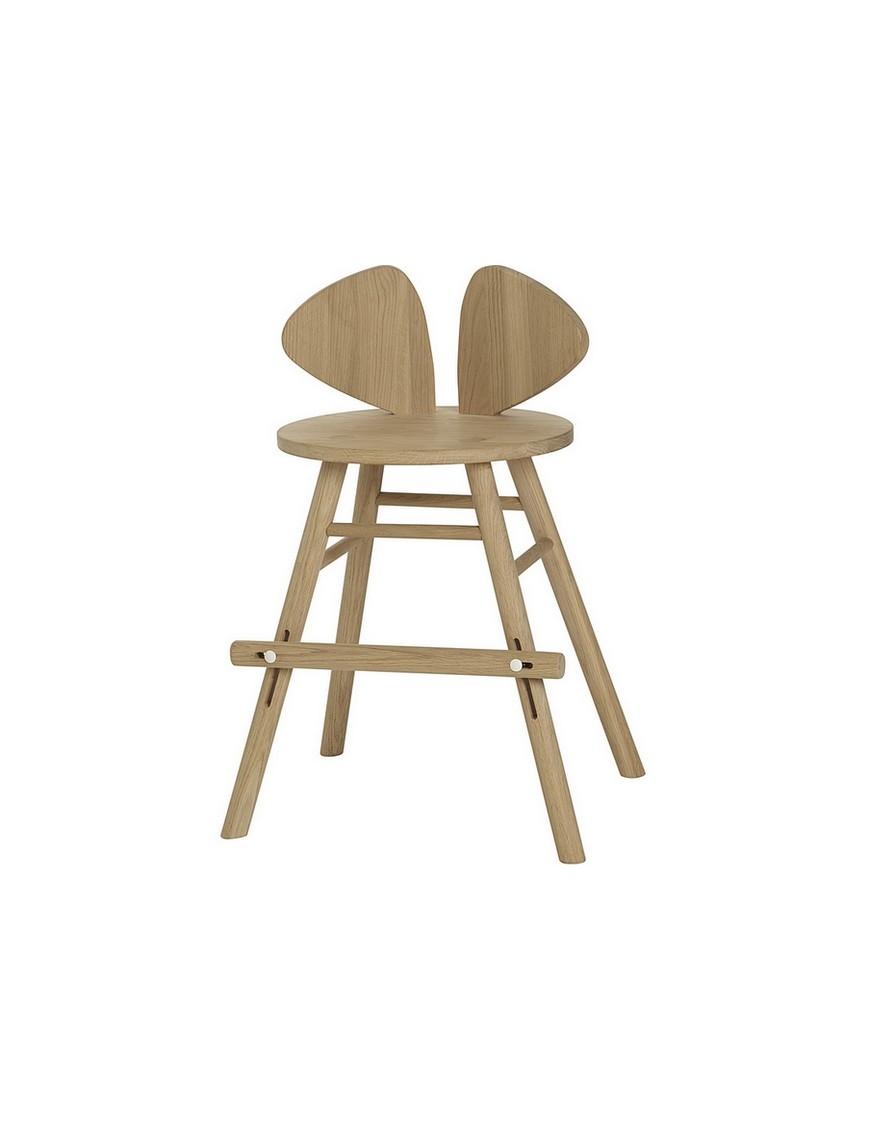 Chaise junior Mouse chêne - hauteur ajustable