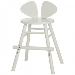 Chaise junior Mouse blanche - hauteur ajustable