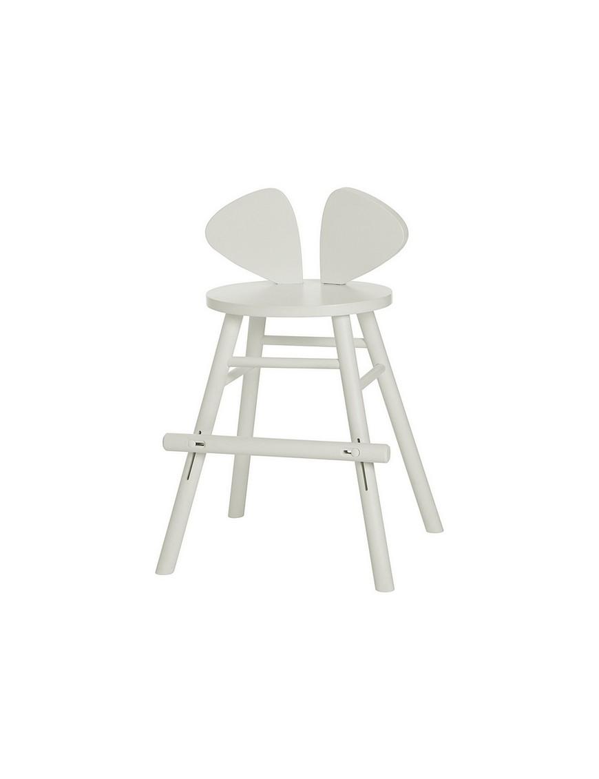 Chaise junior Mouse blanche - hauteur ajustable