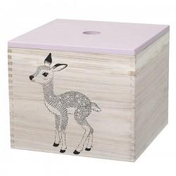 bloomingville storage box fawn/my stuff (set of 2)