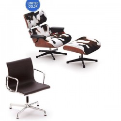 mobilier miniature eames - la chaise lounge chaor ottoman & desk chair