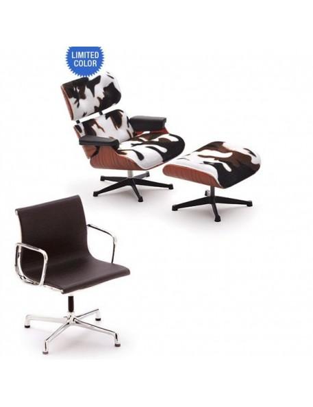 mobilier miniature eames - la chaise lounge chaor ottoman & desk chair