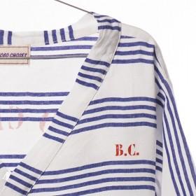 Bobo choses top kimono à rayures bleues