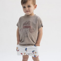 BOBO CHOSES | short bébé denim: basket ball