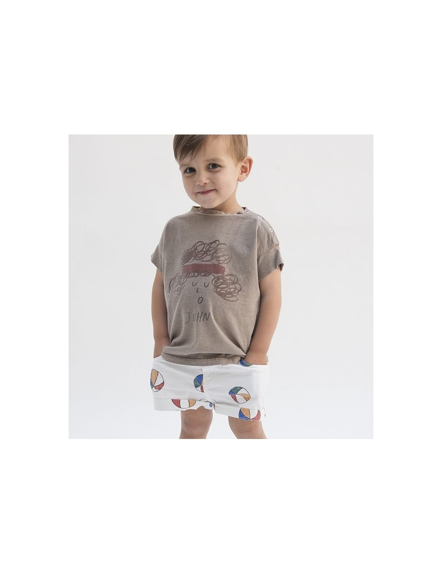 Bobo choses baby denim short basket ball