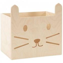 Caisse de rangement enfant chat Miniwoo
