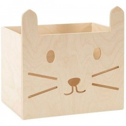 Cat wooden storage box by Miniwou