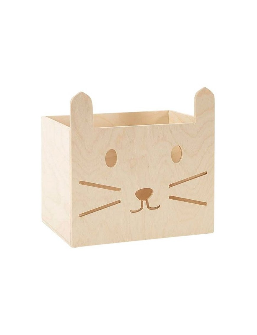kids wooden stool cat by minimou