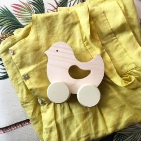 """jouet bébé: oiseau en bois à pousser """"birdie""""   Briki Vroom Vroom"""