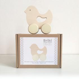 wooden baby toy - birdie - by briki vroom vroom