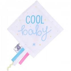 A Little Lovely Company doudou étiquettes: glace (bleu)