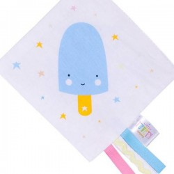 Crinkle baby toy blue ice cream by A Little Lovely Company