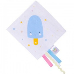 "Doudou plat étiquettes: ""ice blue"" 