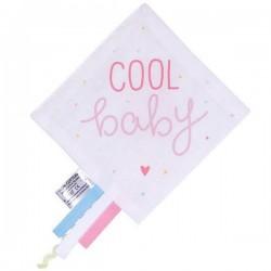 A Little Lovely Company doudou étiquettes : glace (rose)