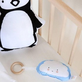 Baby rattle + ring blue cloud by A Little Lovely Company