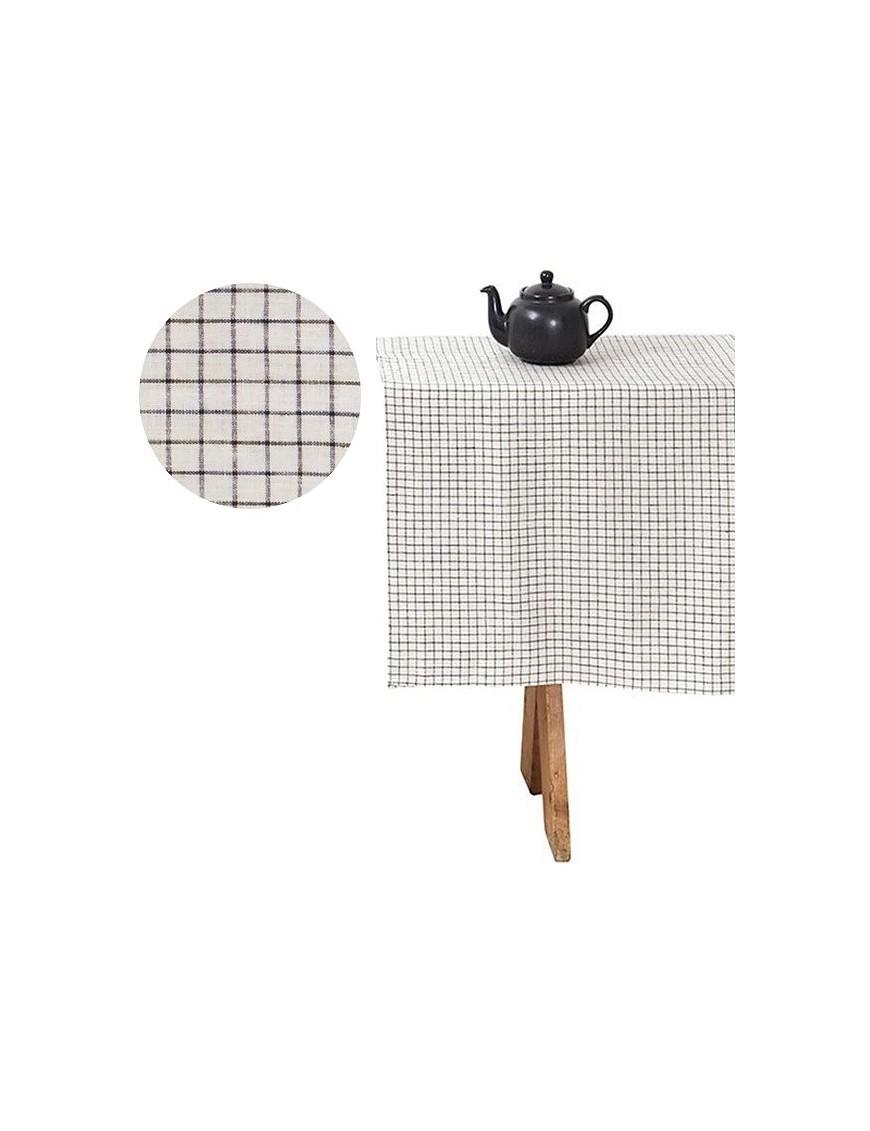 Nappe-rectangulaire-pur-lin-lave-carreaux-145x250cm-FOGLINEN