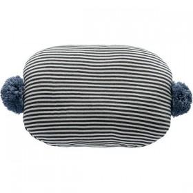 OYOY bonbon cushion : black & white / blue