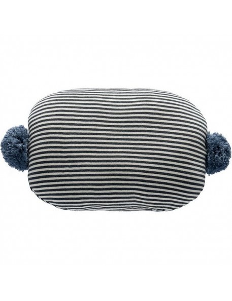 OYOY bonbon cushion : black & white / blue
