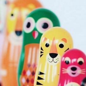 """Poupées russes Ingela P Arrhenius """"animals"""" OMM DESIGN"""
