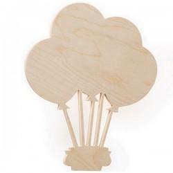 Lampe applique montgolfière bois de hêtre