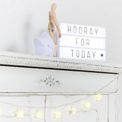 Lightbox lettres (A4) blanche | A Little Lovely Company
