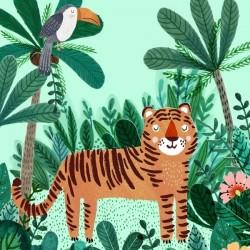 poster tiger (50x70cm)   Petit Monkey