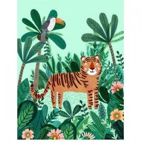 "Affiche jungle : Poster ""Tiger"" (50x70cm)"