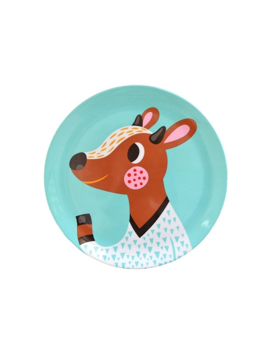 Helen Dardik | assiette enfant mélamine : faon