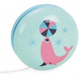 "Ingela P Arrhenius toy: wooden yo-yo ""sea lion"" 
