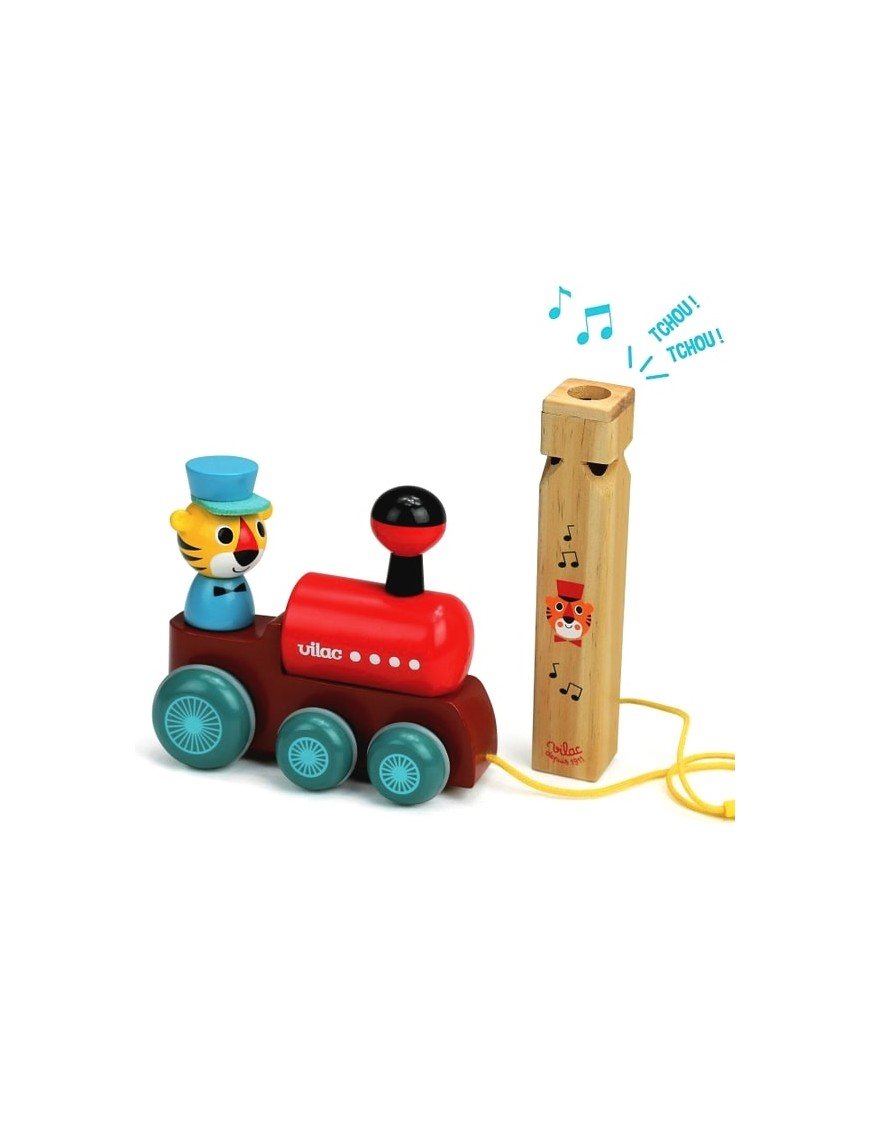 Ingela P Arrhenius pull along toy: train | Vilac