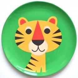 Ingela P. Arrhenius - melamine plate : tiger